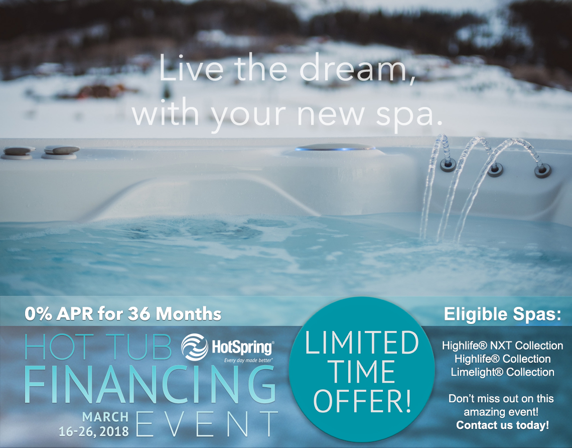 Hot Spring Financing Special
