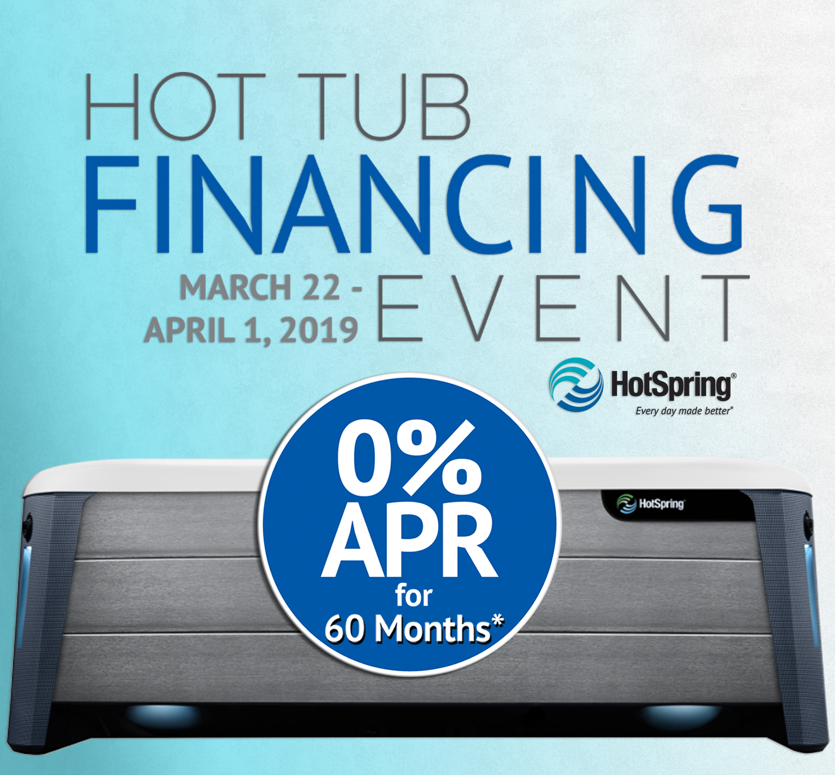 Hot Spring Hot Tub Financing Event